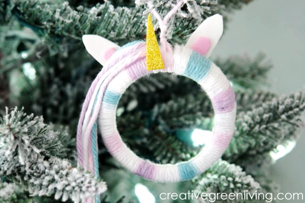 Learn how to make this easy and fun unicorn ornament.