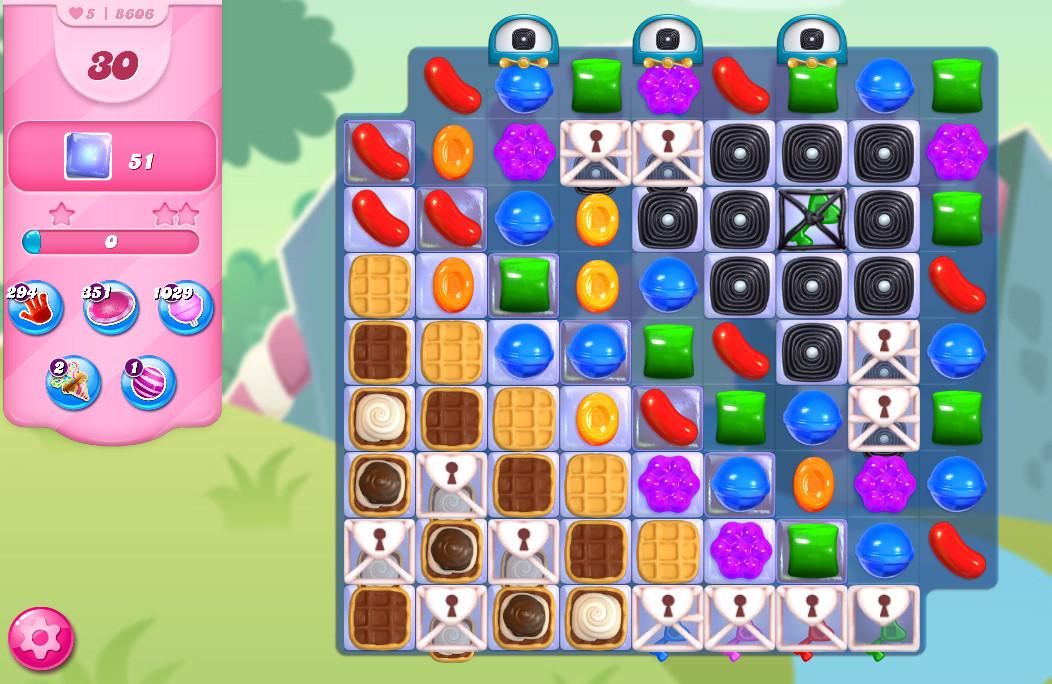 Candy Crush Saga level 8606