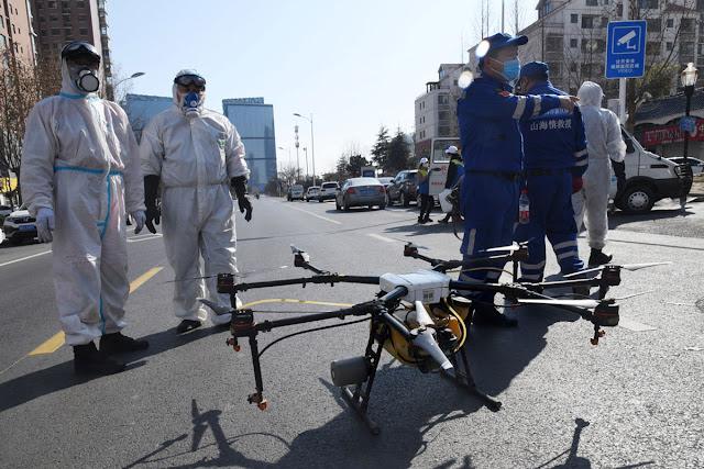 Беспилотники, дроны, коронавирус, Китай, 2020