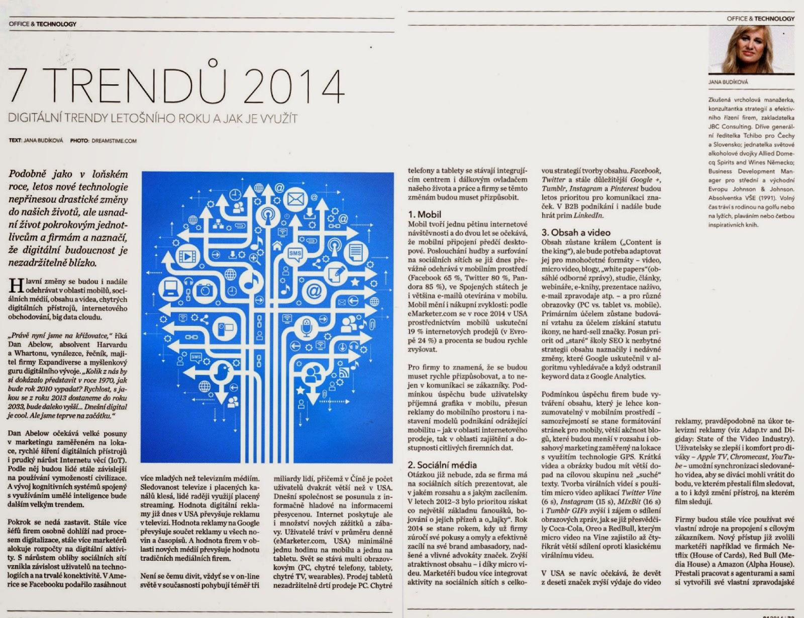 bdf99c78cf9 Tento článek byl připraven pro časopis Business Woman (01-2014).