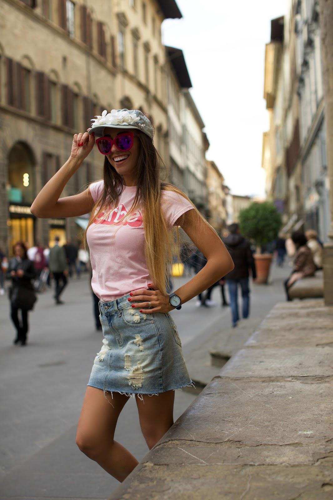 maglietta barbie rosa