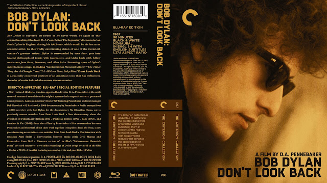 Bob Dylan Don't Look Back Bluray Cover