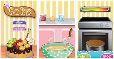 Game memasak kue pada Android