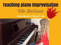 Teaching Piano Improvisation with BenSound, piano student improvising with right hand