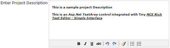 Asp Net Free Rich Text Editor using Tiny MCE Editor - Simple