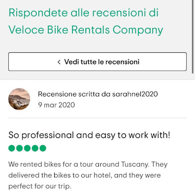 veloce bike rental TripAdvisor reviews
