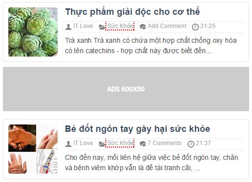 Hướng Dẫn thêm CODE Quảng Cáo ADS vào dưới bài đầu tiên cho Blogspot