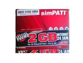 tutorial mudah daftar paket internet simpati 2gb