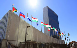 Flags at the United Nations