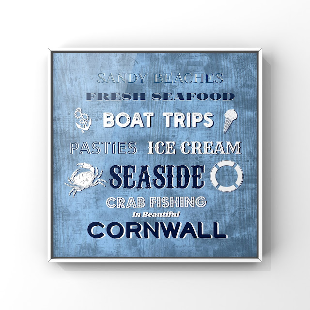 Beautiful Cornwall sign art by Mark Taylor