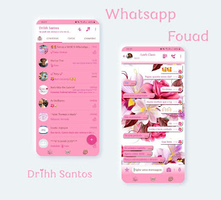 Branco Flores Theme For YOWhatsApp & Fouad WhatsApp By Driih Santos