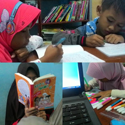 Kegiatan anak-anak (Membaca, Menulis, Menggambar, Mewarnai)