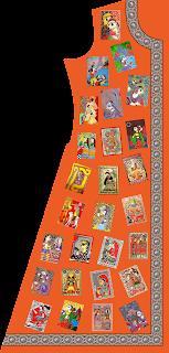 Madhubani Digital Textile Print Women Jacket Design - 2756