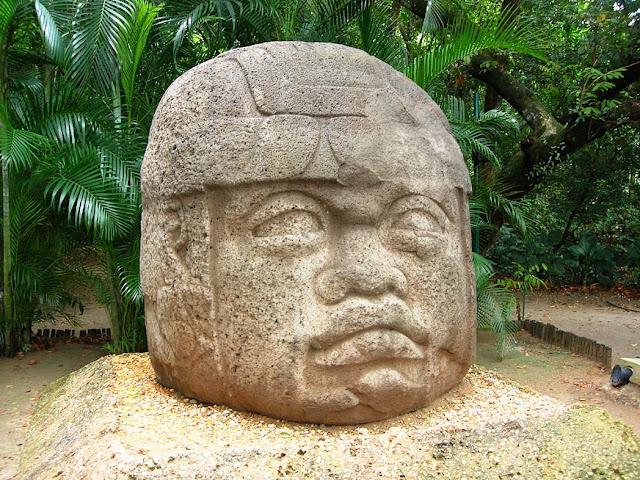 Monument1, Olmec sculpture, La Venta Museum, Villahermos