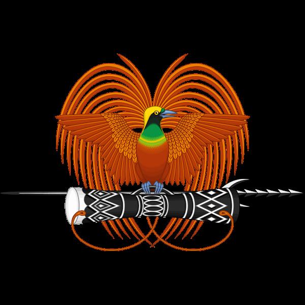 Logo Gambar Lambang Simbol Negara Papua Nugini PNG JPG ukuran 600 px