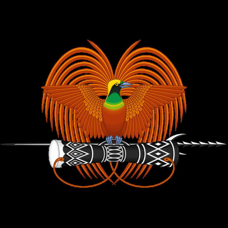 Logo Gambar Lambang Simbol Negara Papua Nugini PNG JPG ukuran 800 px
