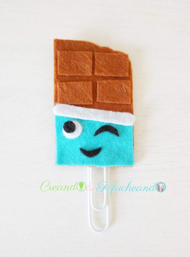 marcapáginas-de-chocolate-2-Ideas-con-Fieltro-para-el Regreso-a-Clases-portalápices-y-Marcapáginas-creandoyfofucheando