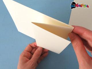come piegare la easel card per effetto cavalletto