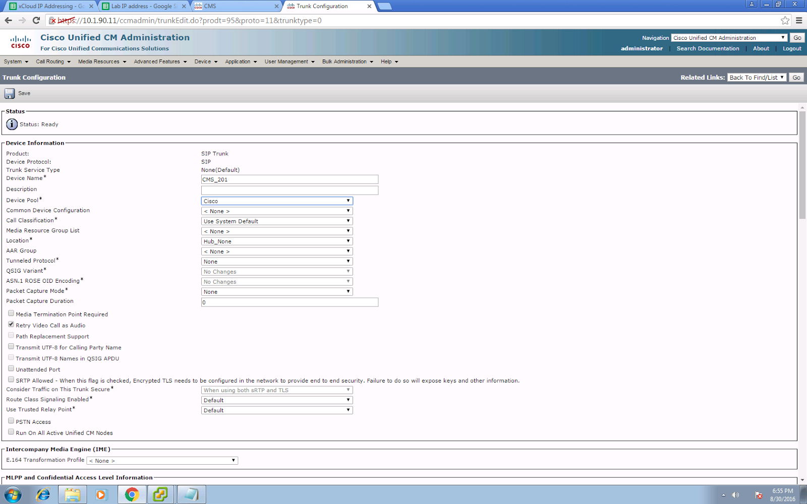 PandaeatsBamboo: Cisco Meeting Server (CMS) Part 1 - Making