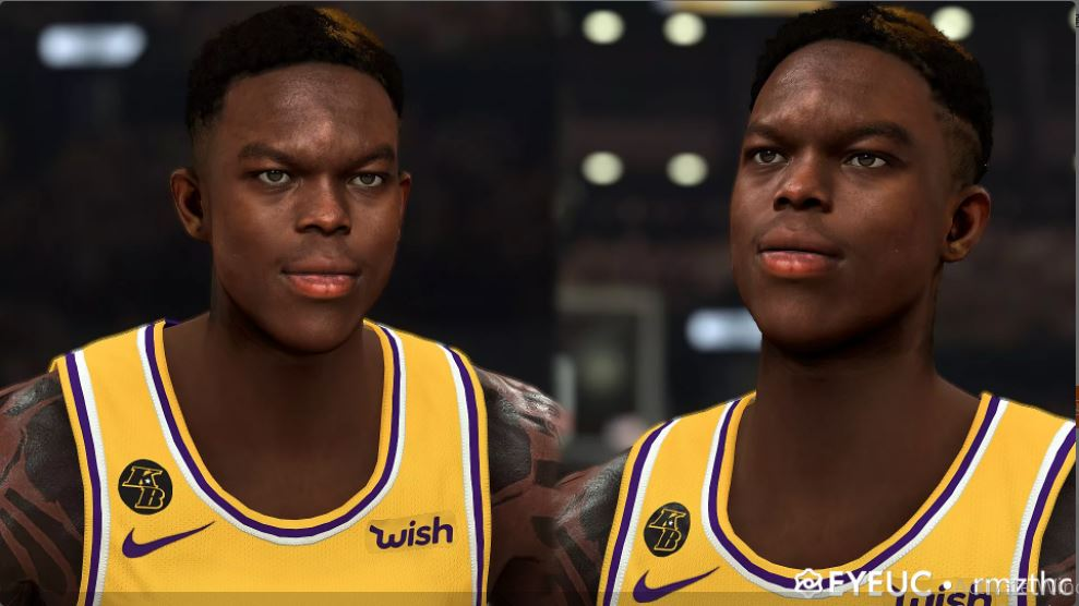 Dennis Schroder Cyberface, Hair and Body Model (current Look) by DP [FOR 2K21]