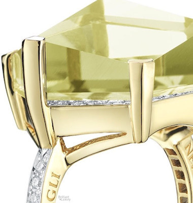 Brilliant Luxury♦Paolo Costagli 18ct Yellow Gold Lemon Citrine Brillante® Valentina Ring