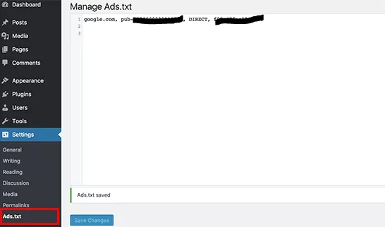 Cara Mengaktifkan Ads.txt di Wordpress