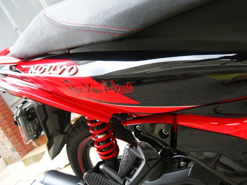 Sơn xe Nouvo Sx đỏ đen phối màu cực đẹp