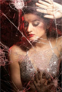 Sexy Mahi Vij Standing In Front Og Glass