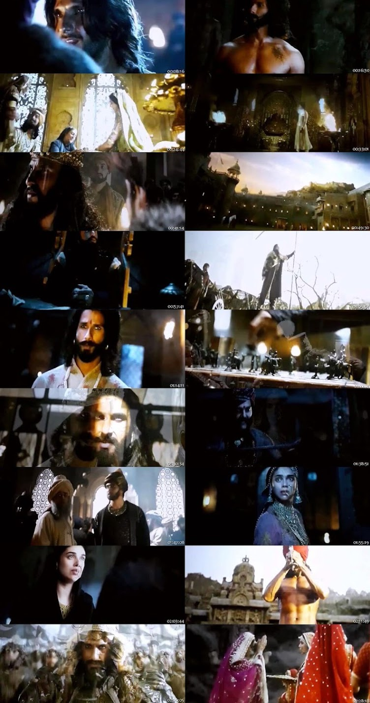 Screen Shot Of Padmaavat 2018 300MB Pdvd Full Hindi Movie Watch Online Free Download