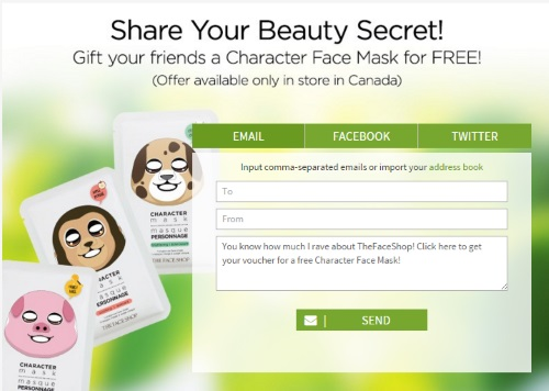 The Face Shop Free Character Face Mask