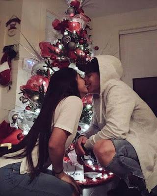 foto tumblr pareja navidad