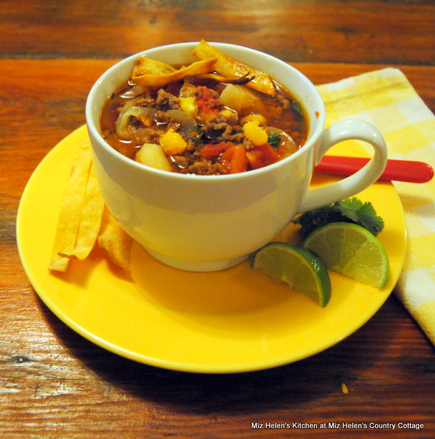 Beef Pozole Soup at Miz Helen's Country Cottage