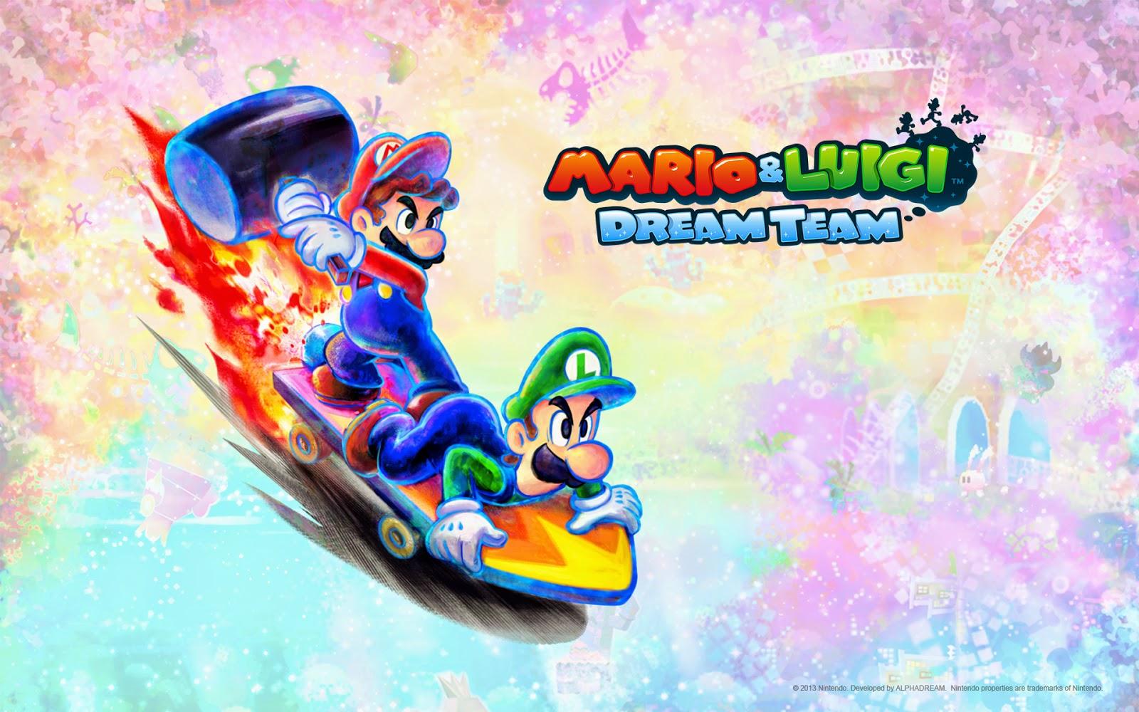 My Super Mario Boy Mario Luigi Dram Team Wallpapers