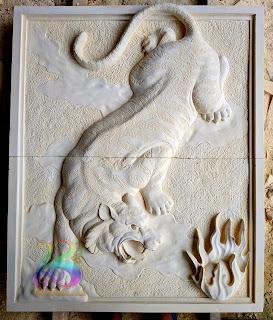 Relief batu harimau