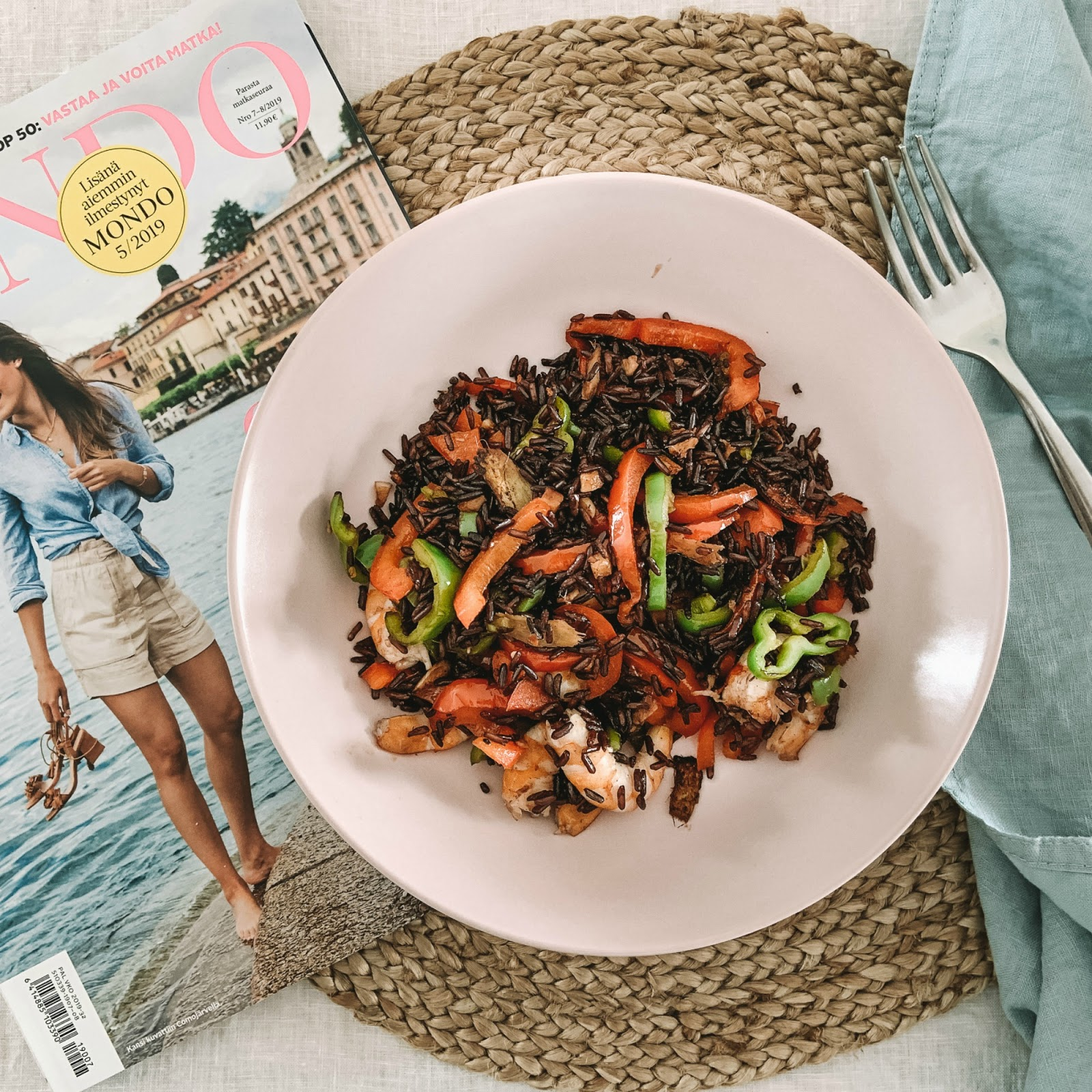Recipe for fried wild rice for lunch