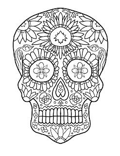 schedel kleurplaat