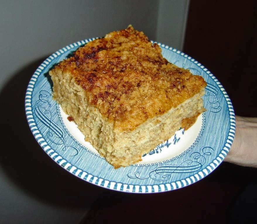 Piece of Banana Crumb Cake on a Plate Image