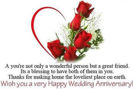 Happy Marriage Anniversary Image wishes for Cute Wife