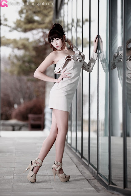 3 Lee Eun Hye - One Shoulder Mini Dress-very cute asian girl-girlcute4u.blogspot.com