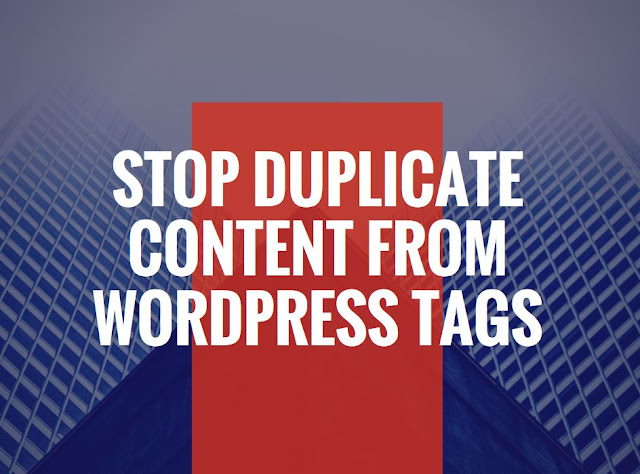 WordPress Tags and duplicate Content
