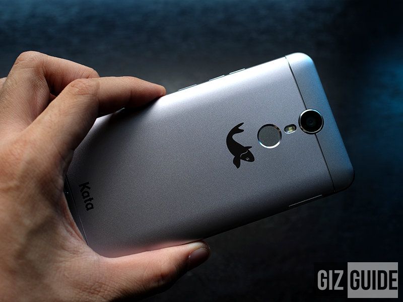 Fingerprint sensor, LED flash and camera