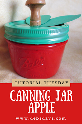 Apple Candy and Treat Jar Made from a Canning Jar