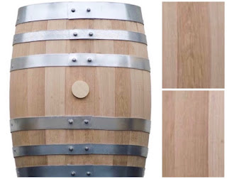 Whisky barrel made using oak planks