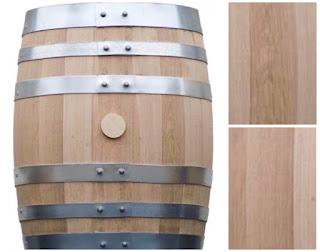 Whisky barrel made using oak planks