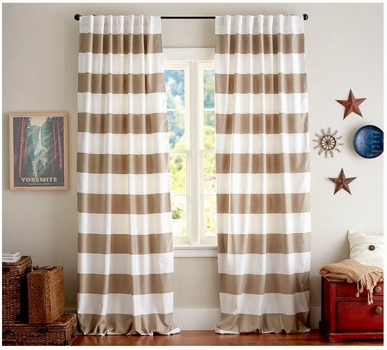 Crafty Texas Girls Horizontal Striped Curtains Drapes