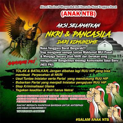 5 Tuntutan Aliansi Nasional Masyarakat Anti Komunis NTB