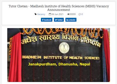 Madhesh Institute of Health Sciences (MIHS)