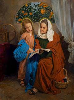 """""""Santa Ana con la Virgen niña"""" de Raúl Berzosa para la capilla de los Marineros de Triana"""