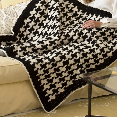Houndstooth Throw - Free Pattern