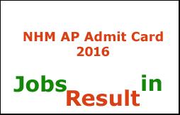 NHM AP Admit Card 2016